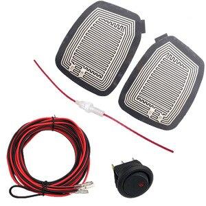 Image 1 - DC 12V سيارة مرآة سخان الكهربائية الزجاج ساخنة سادة حصيرة Defoggers إزالة الجانب مرآة لوحة التدفئة x 2 قطعة