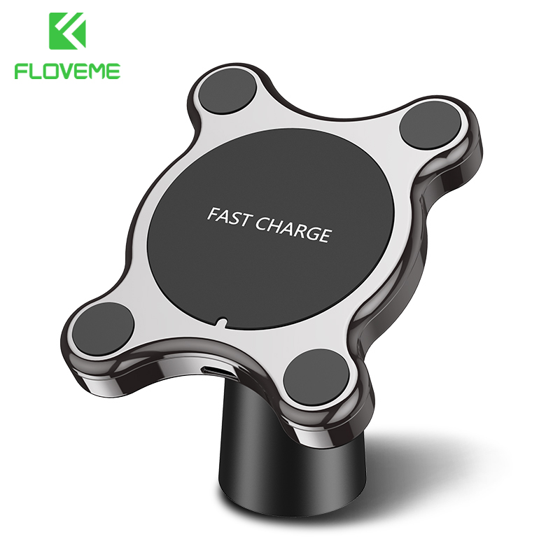 FLOVEME Car Mount Qi Wireless Charger For Samsung Galaxy S9 S10 S8 Note 9 Wireless Charging Car Phone Holder For iPhone XS MAX XFLOVEME Car Mount Qi Wireless Charger For Samsung Galaxy S9 S10 S8 Note 9 Wireless Charging Car Phone Holder For iPhone XS MAX X