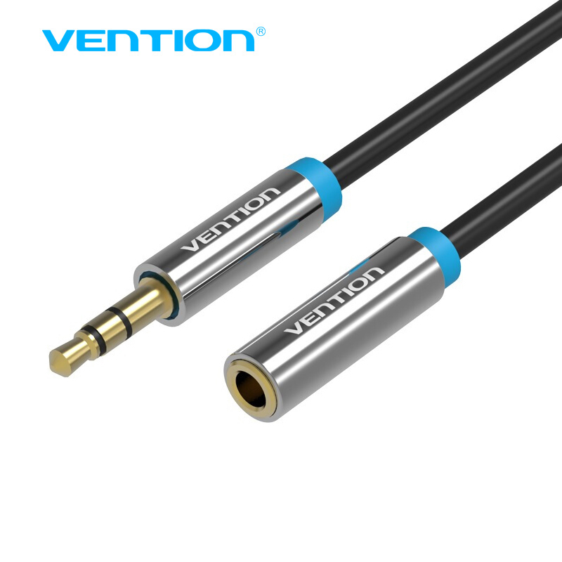 vention jack 3 5 mm male to female stereo aux cable extension cable 1m for headphone pc dvd tv. Black Bedroom Furniture Sets. Home Design Ideas
