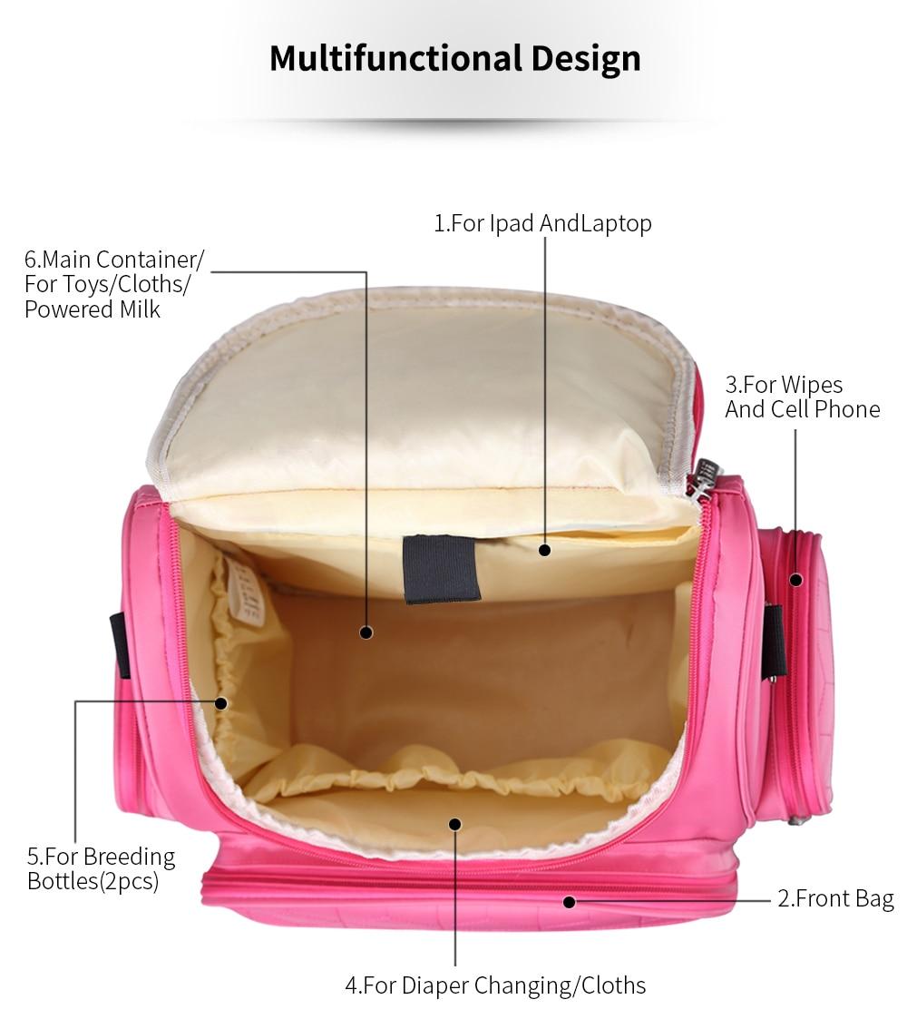 Image 5 - Островная элегантный детские пеленки Рюкзаки сумка Сумки для подгузников Многофункциональный изменение Сумки для мамы Бесплатная доставка сумка для мамы сумка на коляску-in Сумки для подгузников from Мать и ребенок