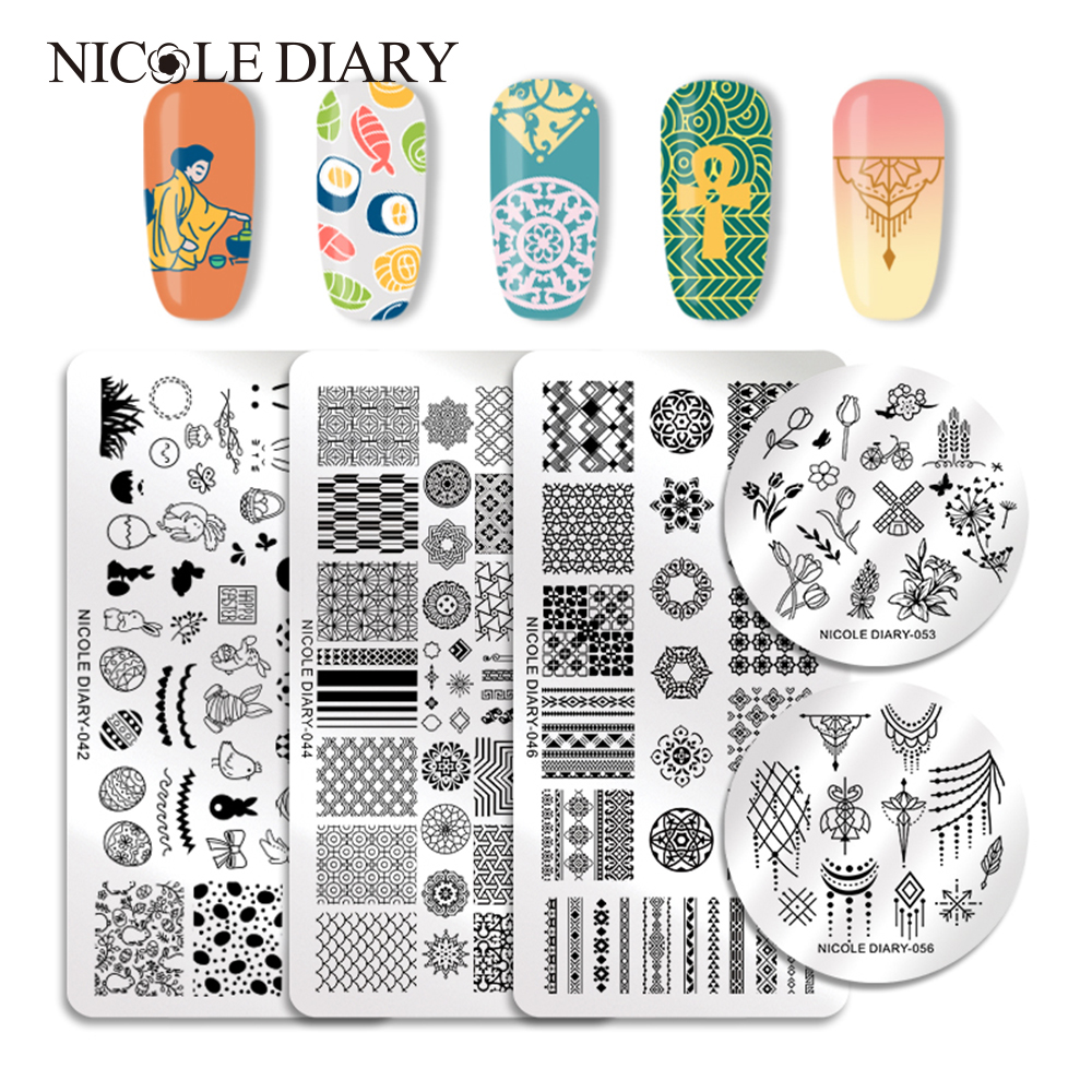 The Nail Art And Beauty Diaries: NICOLE DIARY Nail Stamping Plates Valentine's Animal Plant