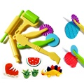 6x Pottery Clay Plasticine dough sculpture Modelling Tools kids pretend play toy