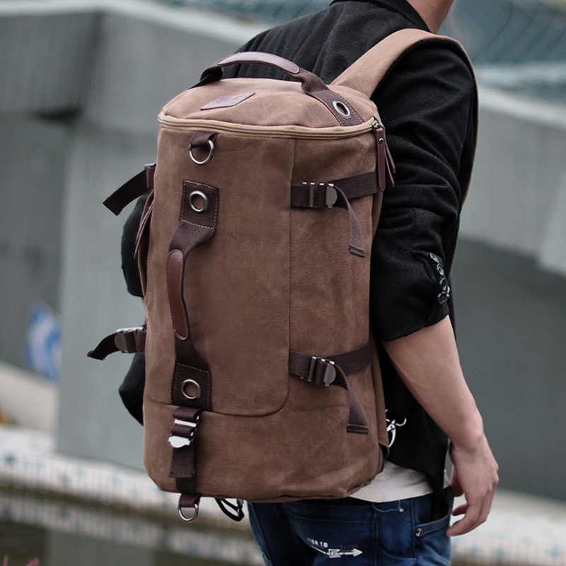 Korean version of canvas backpack mens trend student s youth travel computer multifunctional backpackbag