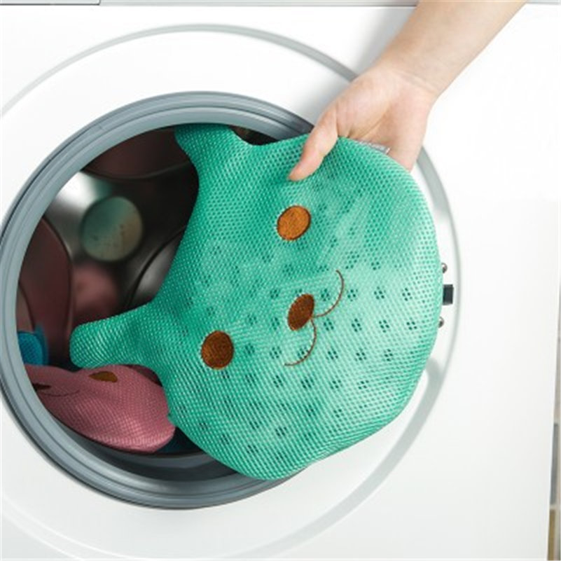 Clothes Washing Machine Laundry Bag With Zipper Bra Underwear Washing Bag Colorful Animal Cloth Storge Bags Foldable Pouch