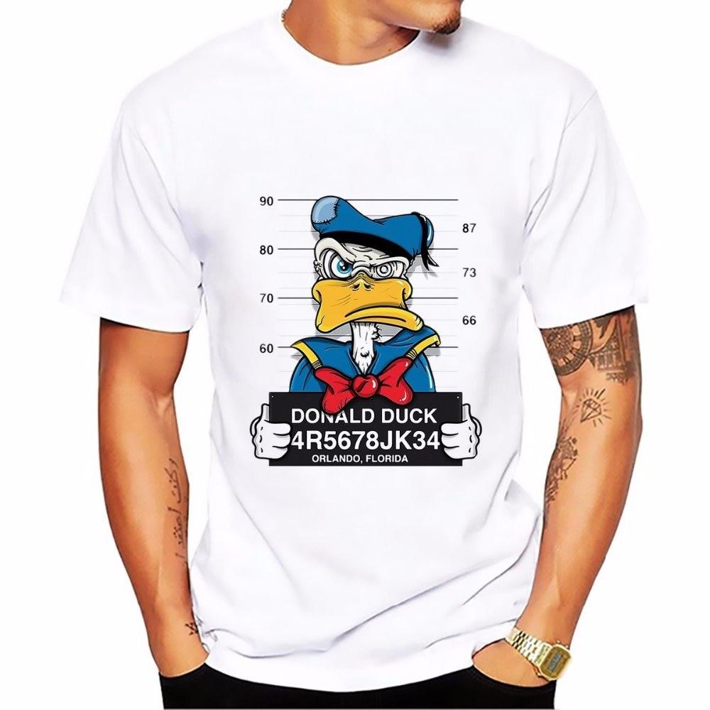 2018 Donald Duck Goofy t-shirt MEN TOPS short sleeve casual funny dog mouse cartoon tshirt homme comfort plus size t shirt Футболка