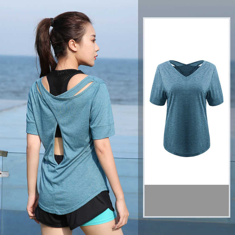 Plus size L-4XL Vrouwen Yoga Top Sport T-Shirt Yoga Crop Tops Yoga Shirts Korte Mouwen Workout Tops Fitness Running Sportkleding