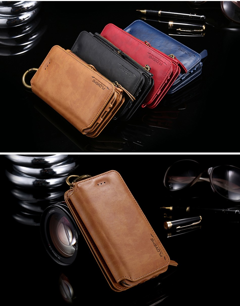 Retro Leather Wallet Case For Samsung Galaxy Note 7Note5Note 3Note 4 S7S6S6 Edge Plus Cover FlipCard Holder Capa Phone Bag (15)