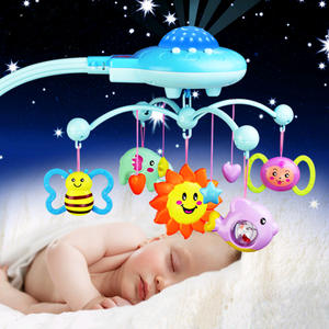 JJOVCE Toy 0-12 Months Crib Mobile Musical Bed Bell