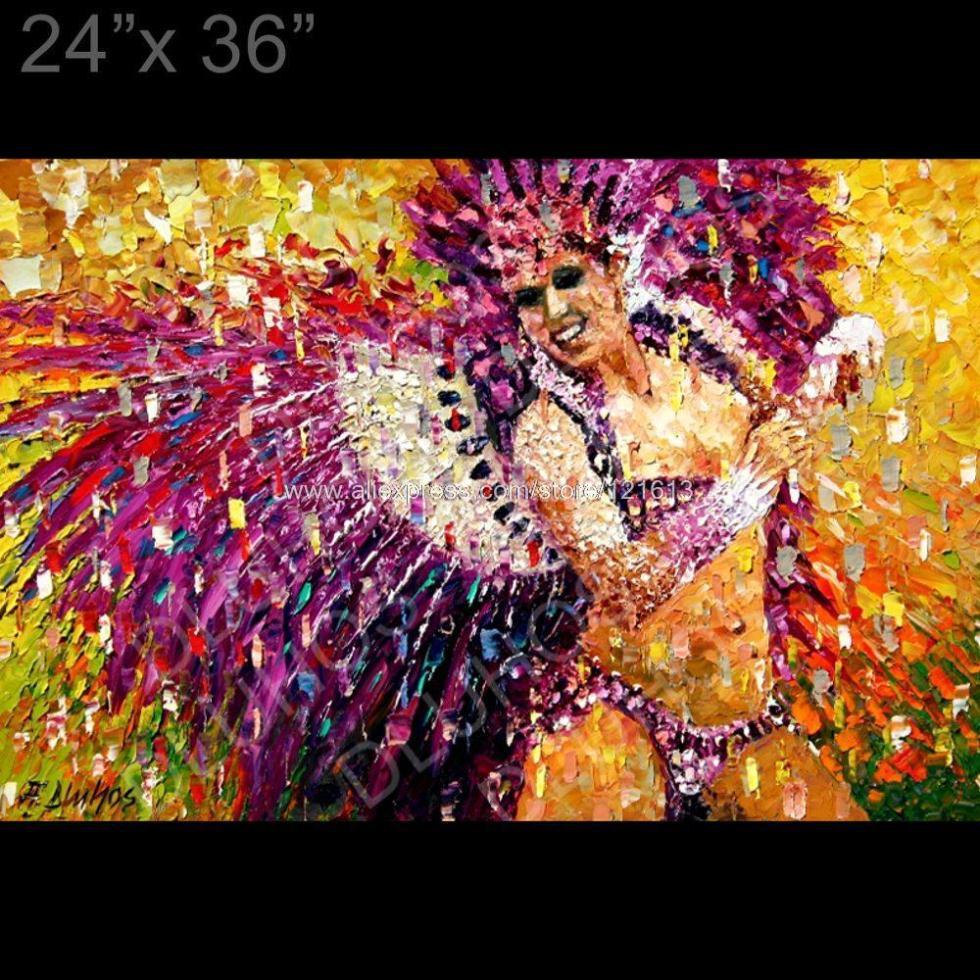 Moderne Carnaval De Rio Samba Danseur Nude Palette Couteau -3929