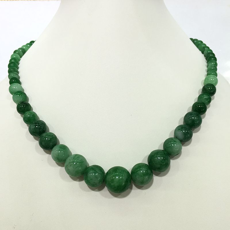 Dark Light Green Stone Necklaces Gradually Change Mixed Size Round Shape  Good Shine Bohemian Choker Style Special For Women In Choker Necklaces From  Jewelry ...