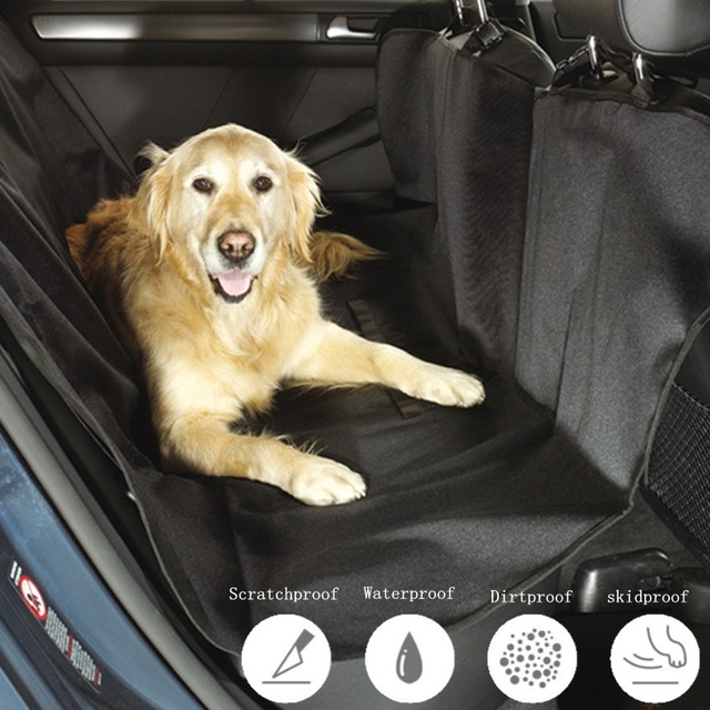 Medium image of foldable nylon waterproof oxford cloth dog car mat backseat hammock pet car seat cover for protector