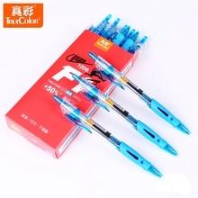TrueColor 12pcs lot 0 5mm Gel Pens Red Black Blue High Quality Supplement School Office Stationery