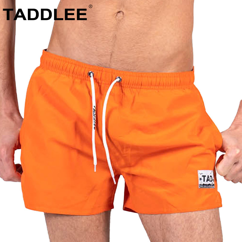 Taddlee Brand Sexy Men's Swimwear Swimsuits Swim Beach   Board     Shorts   Trunks Quick Drying Bathing Suits Surfing Boardshorts Solid