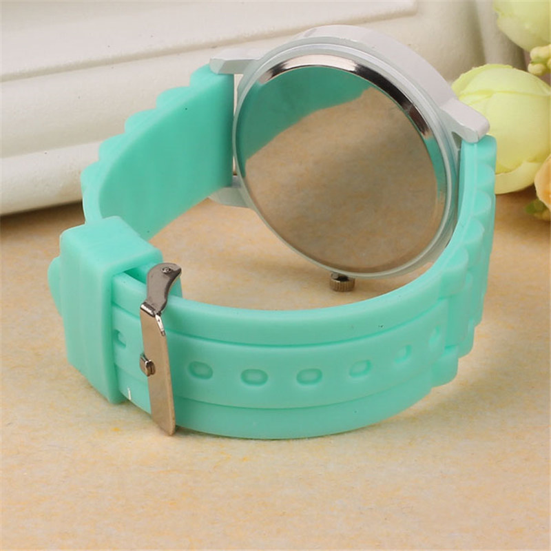 Luxury Women Watch Silicone Rubber Unisex Quartz Analog Sports Women Fashion Wrist Hot Pink For Lovely Girls #4m14 (30)