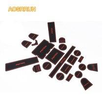 AOSRRUN gummimaterial Modifizierten speziellen tür schlitz wasser cup kissen Abdeckung autozubehör Für Nissan Patril y62 2017 2018