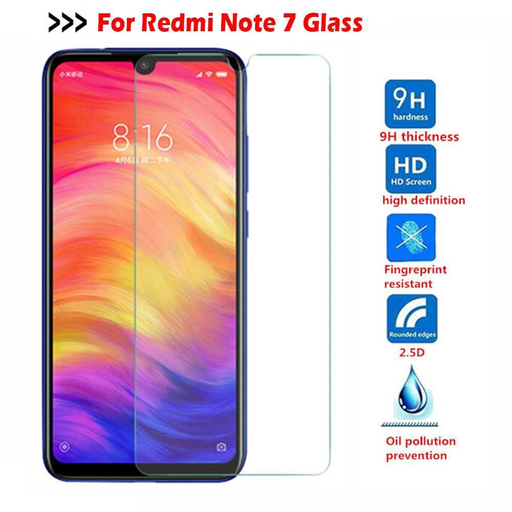 Tempered Glass For Xiaomi Redmi Note 7 5 8 9 Pro 8T mi 9 10 lite Poco F2 Screen Protector glass on Redmi note 9s 7 8 9 Pro glass(China)