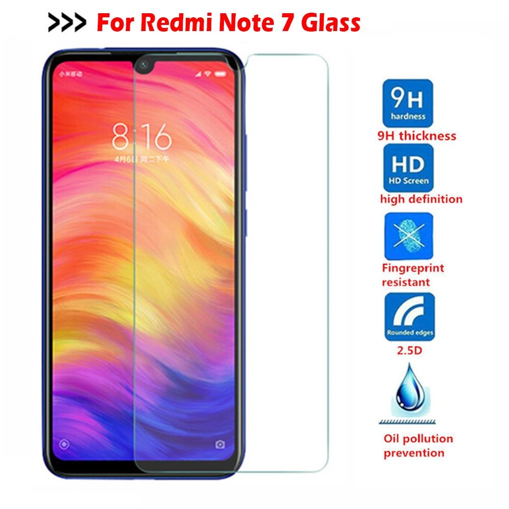Tempered Glass For Xiaomi Redmi Note 7 5 8 9 Pro max 8T mi 9T 9 lite A3 Screen Protector glass on Redmi note 9s 7 8 9 Pro glass(China)