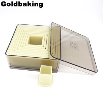 Square Nylon Cookie Cutter 9 Pieces Biscuit Cutters