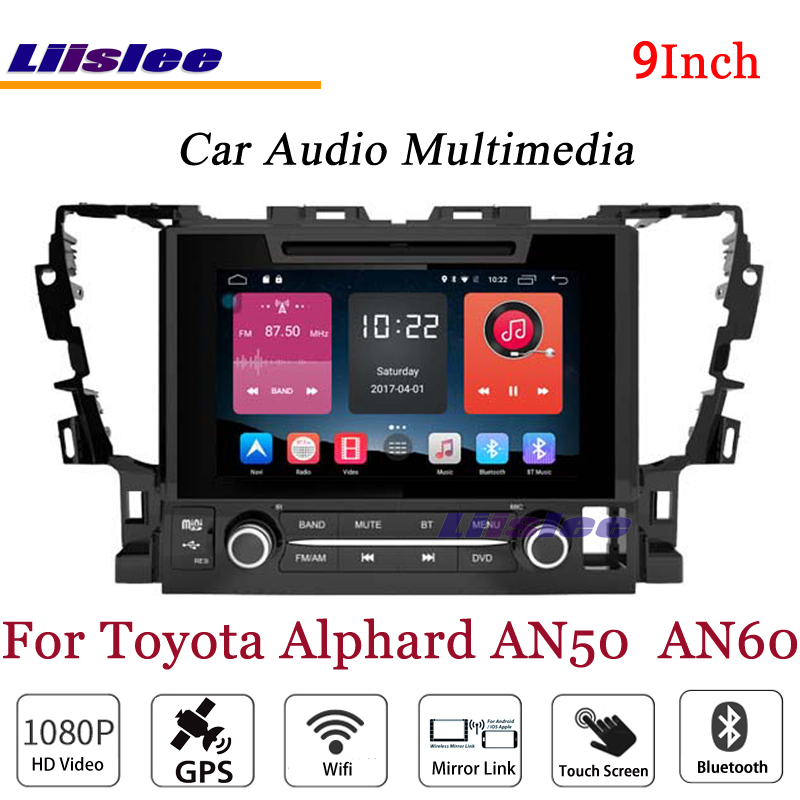 Liislee pour Toyota Alphard AN50 stéréo Android Radio lecteur DVD 3G Wifi BT GPS carte Navigation 1080 P système Original NAVI conception