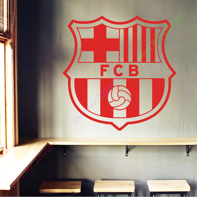 Perfect Hot Sale Beautiful Football Club Mark Flag Wall Sticker Removable House  Decor PVC Soccer Sign Decal