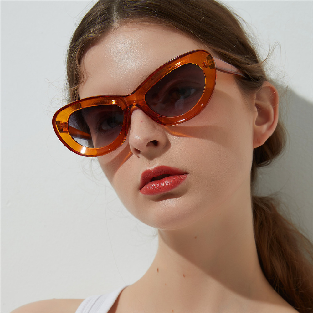 4bf75255c1a0 Women Men Trendy Candy Color Cat Eye Sunglasses Personality Cosy Shades All  Match Street Snap Sun