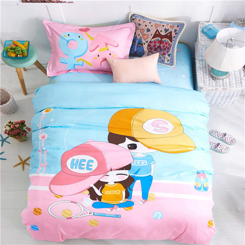 Aliexpress Com Buy Romantic Blue Pink Boy Girls Cartoon