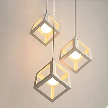 купить American minimalist lighting creative wrought iron led living room dining room interior bedroom chandelier lighting light дешево