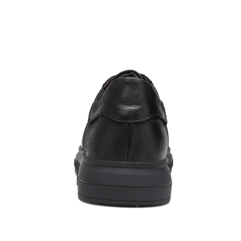 Дървени Големи Плоски Обувки Високо - Мъжки обувки - Снимка 3