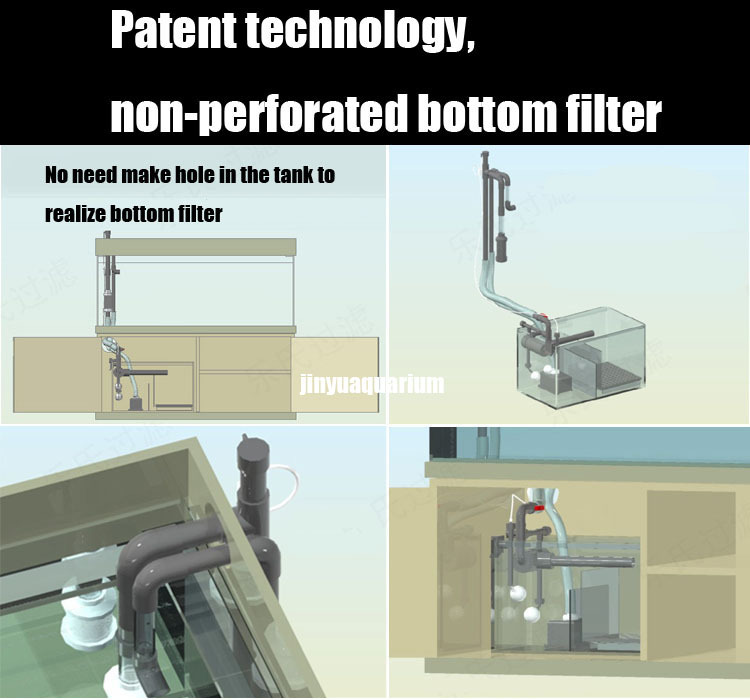 aquarium patent technology non perforated sump bottom filter no need