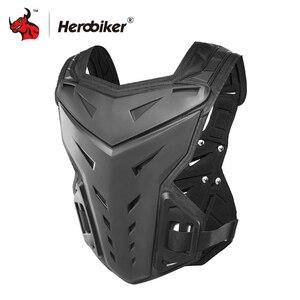Image 3 - HEROBIKER motosiklet zırh yelek motosiklet koruma motosiklet sürme göğüs zırh Motocross yarış yelek ve motosiklet diz pedleri