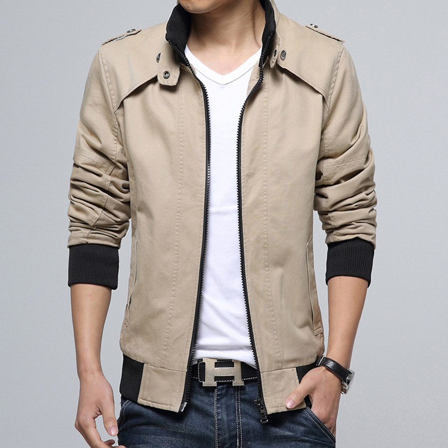 Brand New Fashion Style Men Stand Collar Autumn Winter Jackets Casual Wear  Male Coats Warm Slim Looking Five Colors Solid Cozy c62d5d3f2