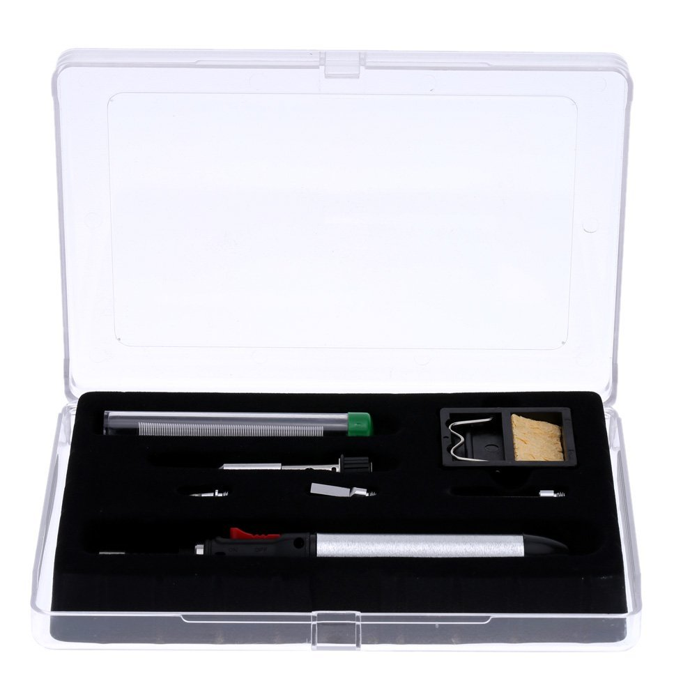 New 12ml Gas Soldering Iron 7-in-1 Cordless Welding Torch Kit Repair Tools HT-1934K