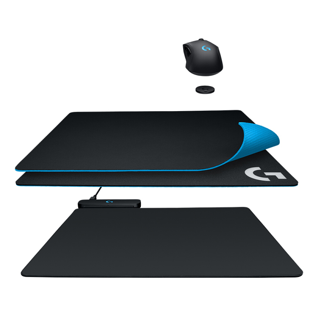 Купить с кэшбэком Logitech POWERPLAY wireless charging system wireless charging mouse pad support G903 G703 mouse charging