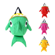 Animals 3D Cartoon Large Fish Backpack Kindergarten Baby Boys Girls Gift School Bags Children Plush Toys Kids Schoolbag Juguetes(China)