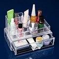 Joyas de plástico Caja de Embalaje Caja de Joyas de Cristal de Colores Transparentes Vestir Cosmtics GUB #