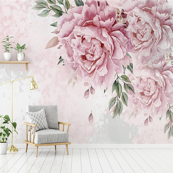 Custom Photo Wallpaper Modern 3D Hand Painted Flowers Murals Living Room Bedroom Romantic Home Decor Wall Papers Papel De Parede