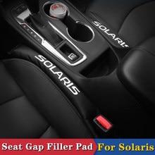 2Pcs Assento Gap Filler Macio Estofamento Spacer Para Hyundai Solaris 2011 2012 2013 2014 2015 2016 2017 2018 Acessórios Do Carro Styling