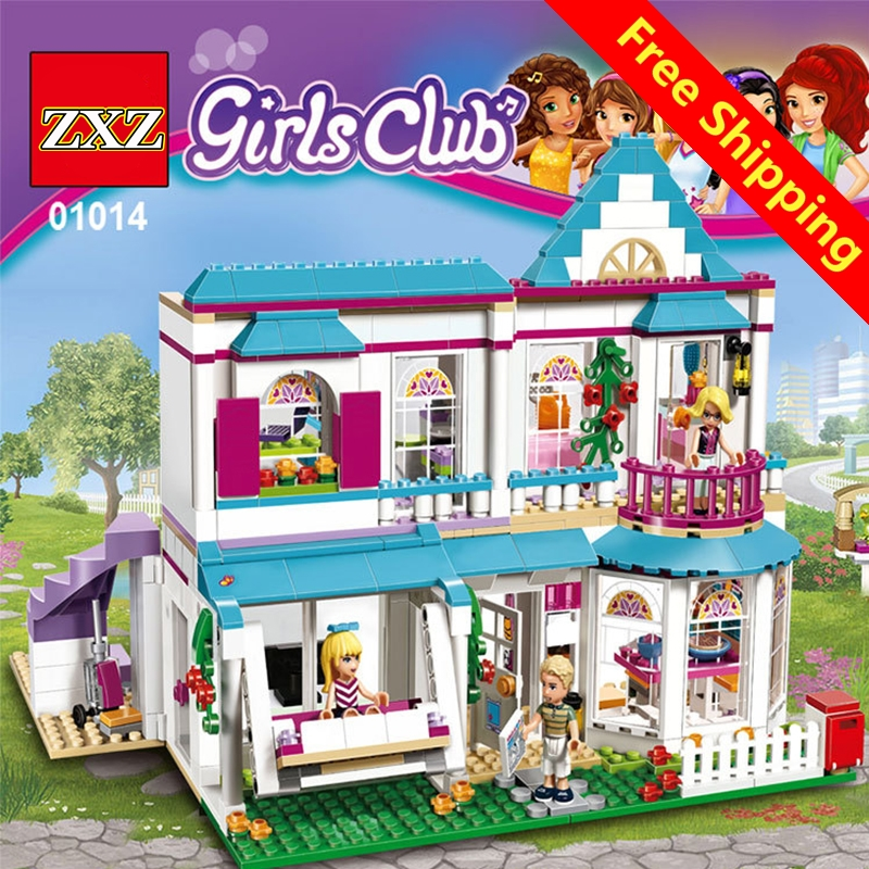Friends Serie 01014 The Stephanie's House Building Blocks Bricks Set Toys for Children Compatible with Legoingly 41314 for Girl lepin diy girl friends series the undersea palace set castle building blocks bricks toys for children compatible with legoingly