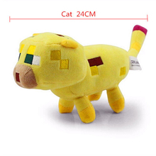 Minecraft Stuffed Plush Toys 24cm Yellow Minecraft Ocelot Cat Plush Soft Toy Brinquedo for Kids Christmas