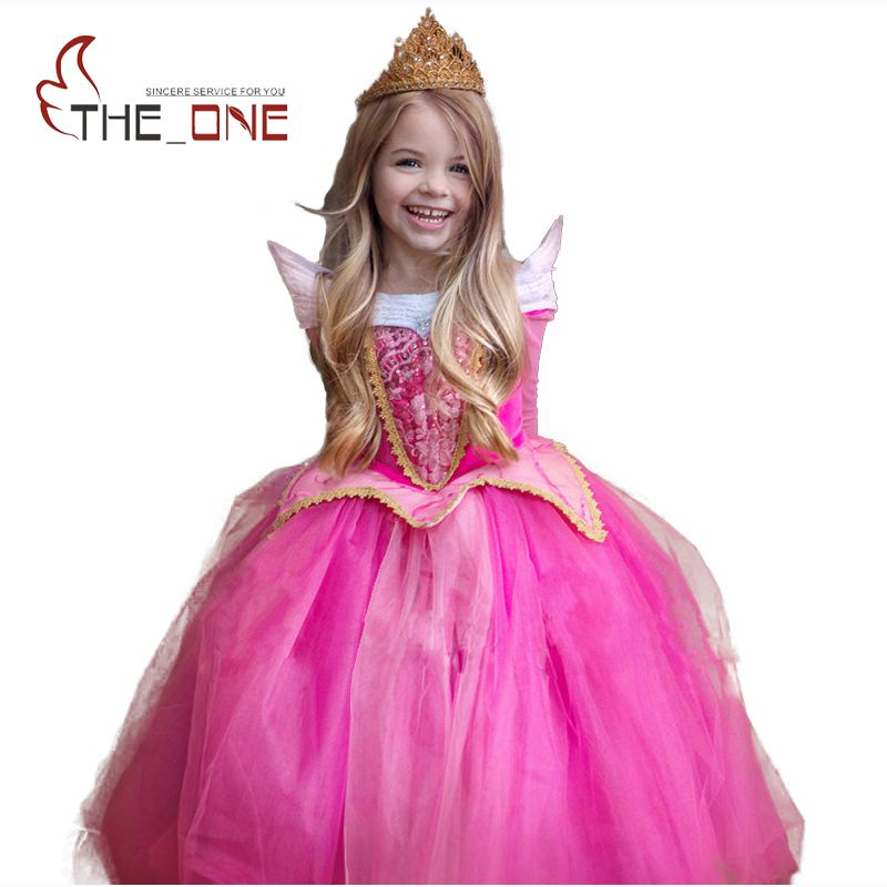 Girls Sleeping Beauty Princess Cosplay Party Dresses