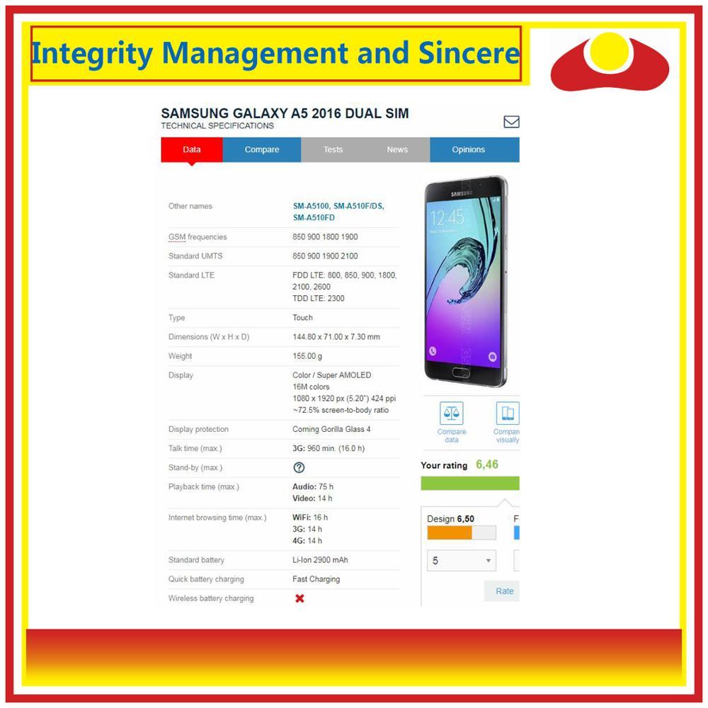 Image 4 - Oryginalny do Samsung Galaxy A5 2016 A510 A510F A510M A510FD wyświetlacz LCD z ekranem dotykowym panel digitizera montaż kompletnyEkrany LCD do tel. komórkowych   -