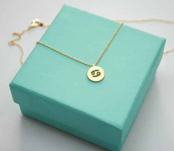 1PCS Zodiac Cancer Necklace Signs 12 Constellation Necklace Horoscope Astrology Disc Necklace Galaxy Star Necklaces