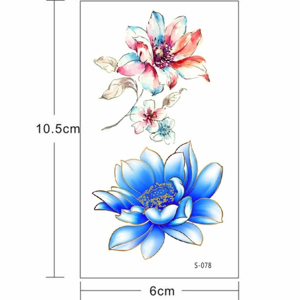 Blume Temporäre Tattoos für Frauen Hand Tattoo Aufkleber Mode Körper Kunst Wasserdicht Arm Gefälschte Tattoo Papier #2