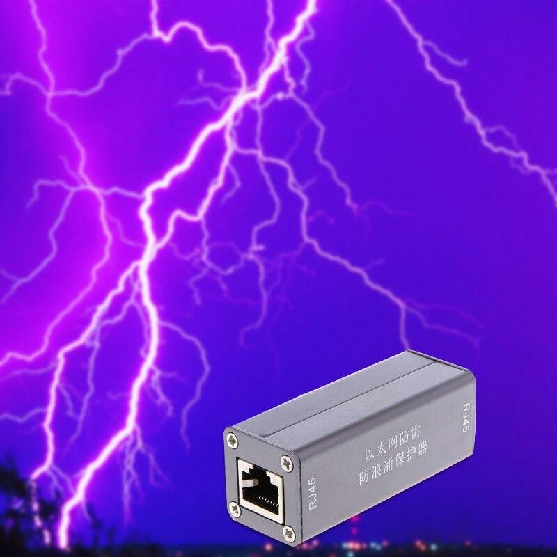 Новый сетевая карта Ethernet RJ45 Стабилизатор напряжения Гром Молния перенапряжения устройство защиты Лидер продаж