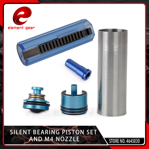 Image 1 - Element 5PCS Slient Bearing Cylinder/Piston Head/Nozzle /14/15 Teeth Pistol Set for M4/AK47 Series Airsoft AEG/GBB Hunting Parts