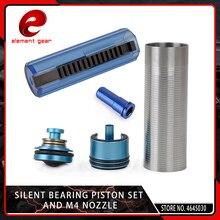 Elemento 5 PCS Slient Cuscinetto Cilindro/Pistone Testa/Ugello/14/15 Denti Pistola Set per M4 /AK47 Series Airsoft AEG/GBB Caccia Parti