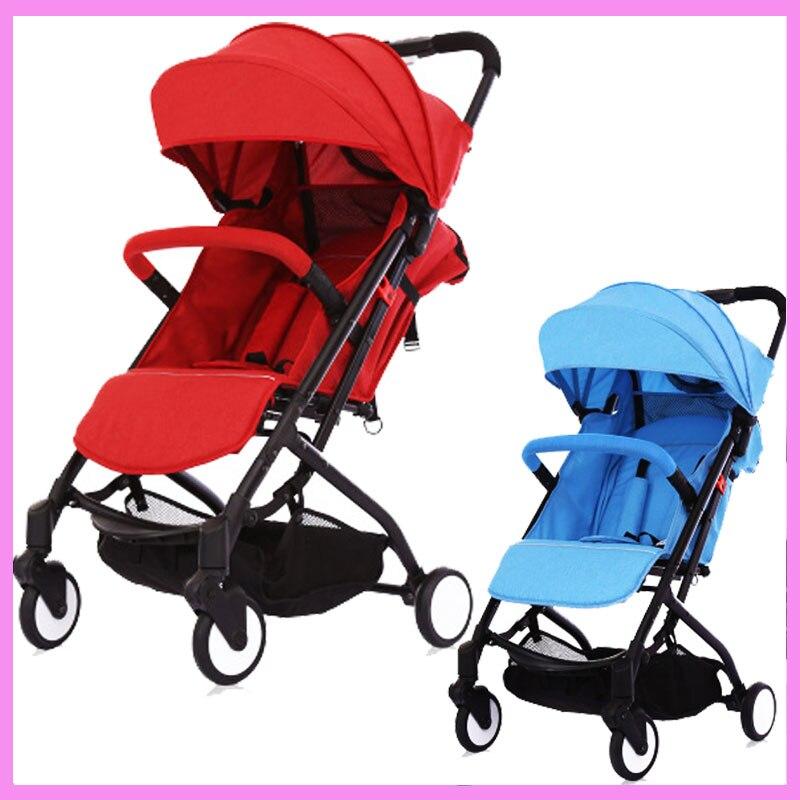 Super Lightweight Summer Baby Stroller Portable Folding Car Infant Light Umbrella Stroller Armrest Bottom Basket Pram Pushchair