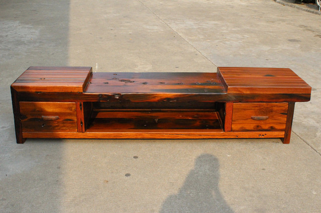 Catalpa Wood Mahogany Wood Boat Old Elm Original Ecological Wood TV  Cabinets TV Tables Neoclassical Nostalgia