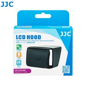 """Image 5 - JJC LCH S35 לקפל החוצה מסך שמש מגן כיסוי 3.5 """"LCD הוד וידאו מצלמה תצוגת מגן עבור Canon/סוני מצלמות וידאו"""