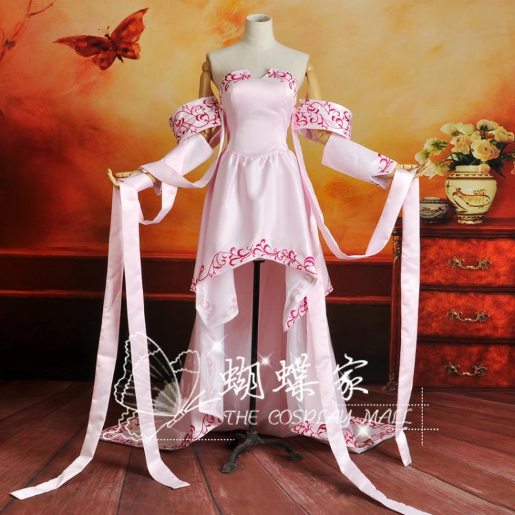 Mobile Suit Gundam SEED Lacus Clyne Cosplay Costume Halloween Party Beauty Dress Custom-made